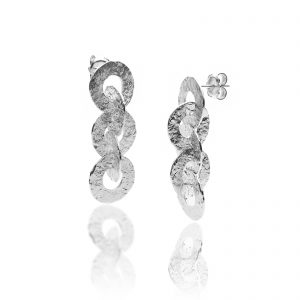 hammered chain-link earrings
